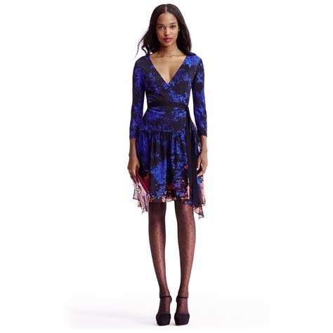 Fashion Diane Furstenberg Chiffon Wrap Dress by Lyst Diane Furstenberg Dvf Riviera Jersey And