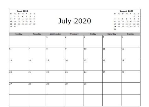 july  calendar excel printable calendar template blank calendar template excel calendar