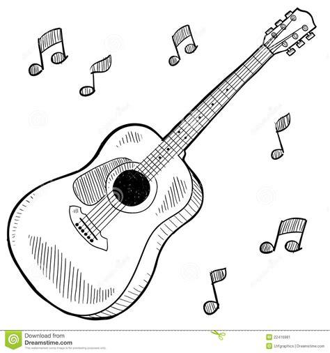 imagenes de guitarras blanco y negro acoustic guitar drawing stock vector image of isolated