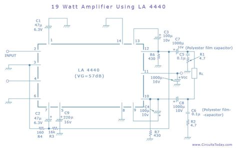 Ic La 4440 Integrated Circuit La4440 simple lifier circuit circuit diagram world