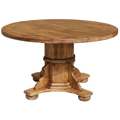rustic pine collection romana dining table mes222