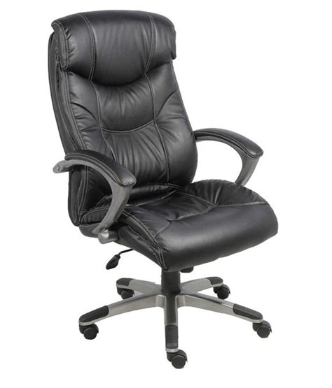 push back chair price in india high back office chair in black leatherette buy at