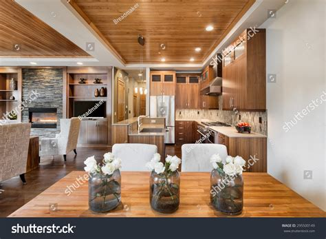 stunning home interiors beautiful home interior open floor plan stock photo