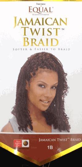 is equal cuban twist hair 100 kanekelon freetress equal 100 kanekalon jamaican twist braid
