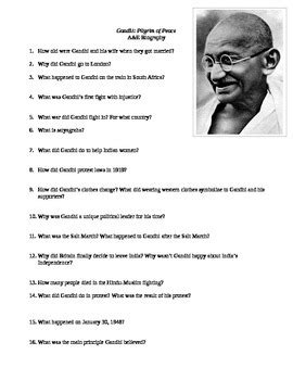 biography of mahatma gandhi for class 1 gandhi worksheet wiildcreative
