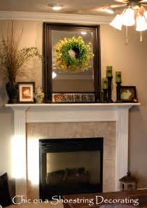 mantelpiece decoration chic on a shoestring decorating easter mantel on the cheap
