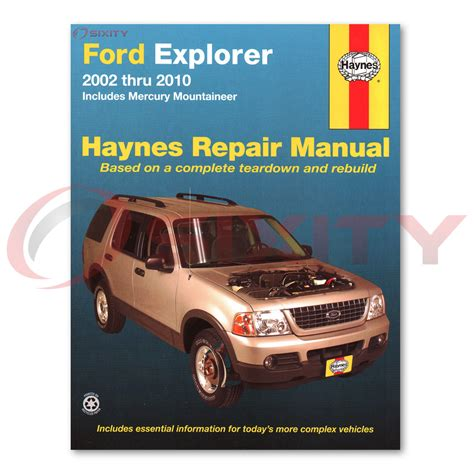 car maintenance manuals 2010 ford e250 windshield wipe control ford explorer haynes repair manual xlt nbx xls postal eddie bauer sport gm ebay