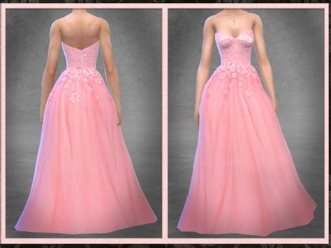ball gown sims 4 the sims resource floral encrusted tulle ball gown by
