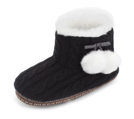 cuddl duds slippers cuddl duds faux fur lined ankle bootie slippers qvc uk