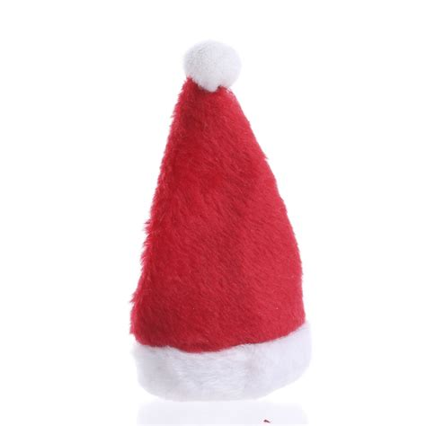 miniature plush santa hat christmas miniatures