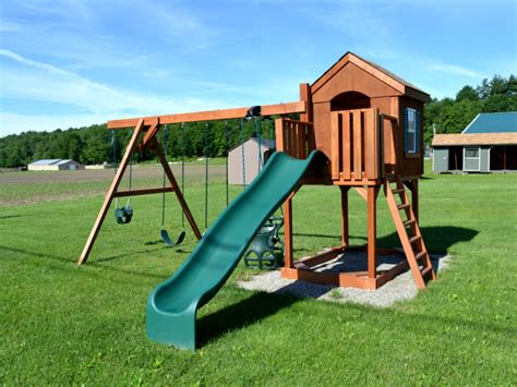 swing set landscaping cabinette swing set livingston farm outdoor structures