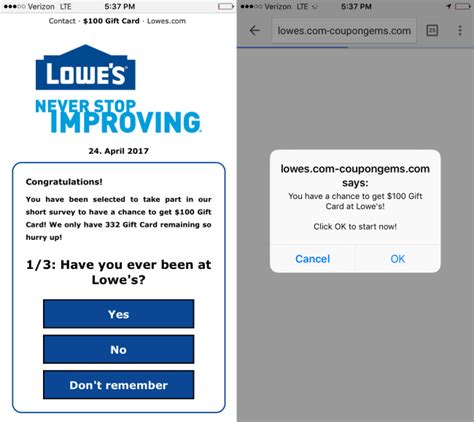 Lowes Gift Card Scam - consumer alert lowe s mother s day coupon is a scam