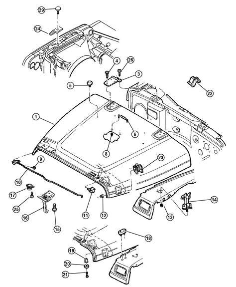 beach jeep accessories 2004 jeep wrangler hood 55176594ag mopar parts inc