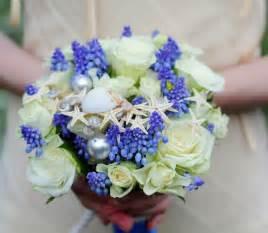 20 wedding bouquet ideas seashells and flowers