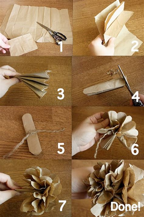 How To Make A Paper Lunch Bag - vintage paper flower ideas weddings by lilly