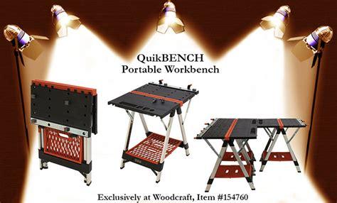 quick bench portable workbench woodcraft product spotlight quikbench portable workbench
