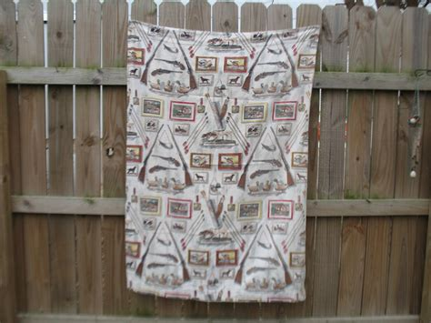 barkcloth drapes vintage barkcloth gun hunting fabric drapes cabin patio