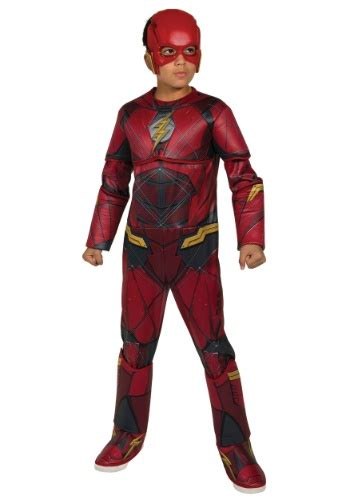 flash boys justice league deluxe flash costume for boys