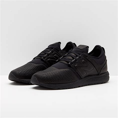 sepatu sneakers new balance original 247 leather black