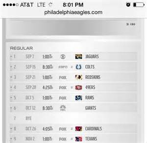 section x sports schedule philadelphia eagles 2014 full schedule section 215 a