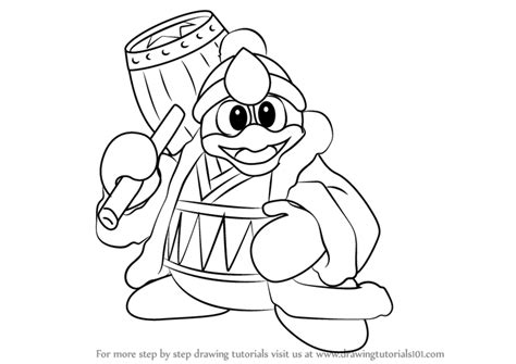 king dedede coloring page learn how to draw king dedede from kirby kirby step by