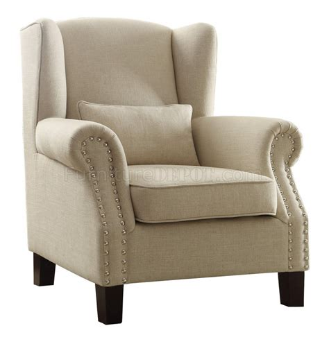 upholstery fabric adelaide adelaide accent chair 1245f2s in neutral fabric by homelegance