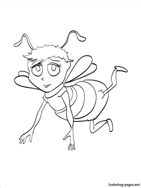 bee movie coloring drawing coloring pages