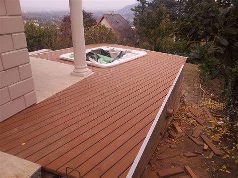 terrasse l form gefälle terrassendielen wpc parkettachse wien