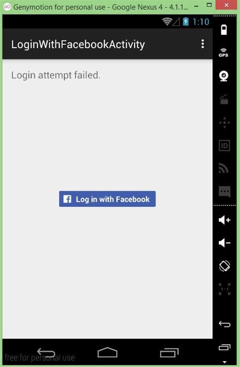 fb login android add facebook login into your app