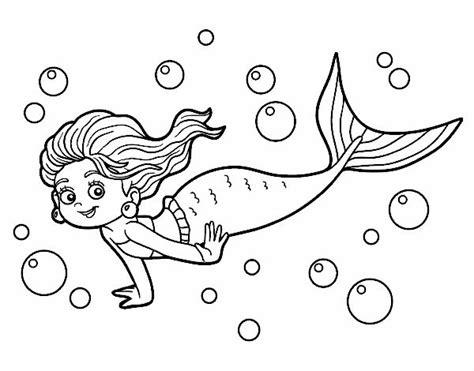 imagenes de sirenas faciles para dibujar dibujo de sirena del mar pintado por en dibujos net el d 237 a