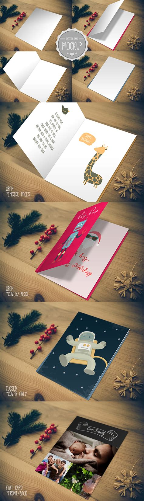 photoshop greeting card template psd greeting card mockup photoshop psd template on behance