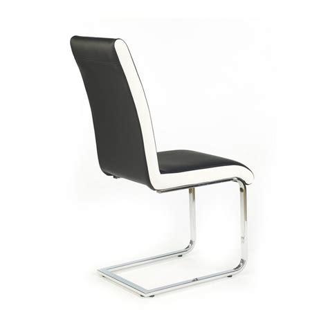 chaise blanche et noir chaise et blanche luge lydia
