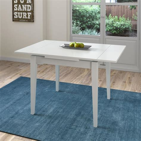 White Wood Extending Dining Table Corliving Dillon White Wood Extendable Dining Table Dsh 210 T The Home Depot