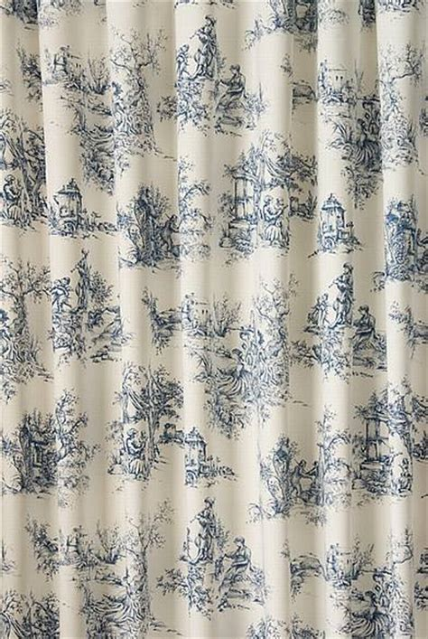 toile de jouy curtains blue toile blue made to measure curtains
