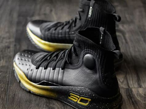 Armour Curry 2 0 Black Gold stephen curry wears black gold armour curry 4 pe for