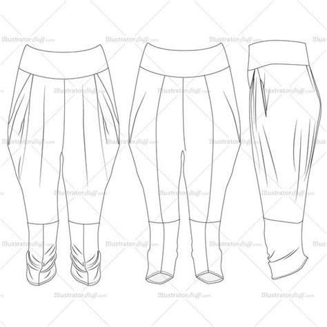 harem template harem pant s fashion flat templates