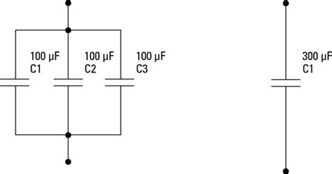 how to connect capacitor in parallel electronics components capacitors in parallel and series dummies