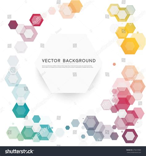 Hexagonal Abstract 3d Background Stock Vector Abstract Color 3d Hexagonal Background Stock Vector