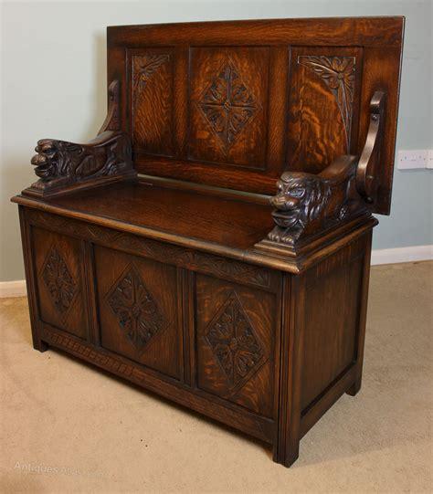 antique oak monks bench antique oak monks bench antiques atlas