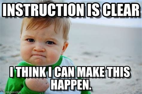 Clear Meme - instruction is clear success kid original meme on memegen