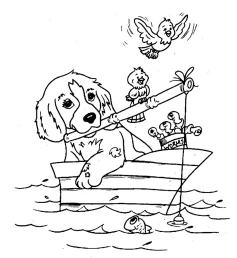 sketches of hunting dogs coloring pages