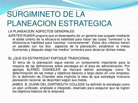 conceptos de administracion estrategica by manuel ricardo planeacion estrategica tarea 3