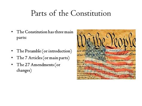 sections of the constitution civics end of course review ppt download