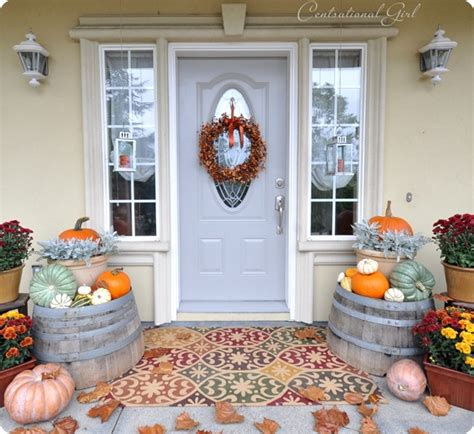 front porch fall decor  beautiful front porch displays