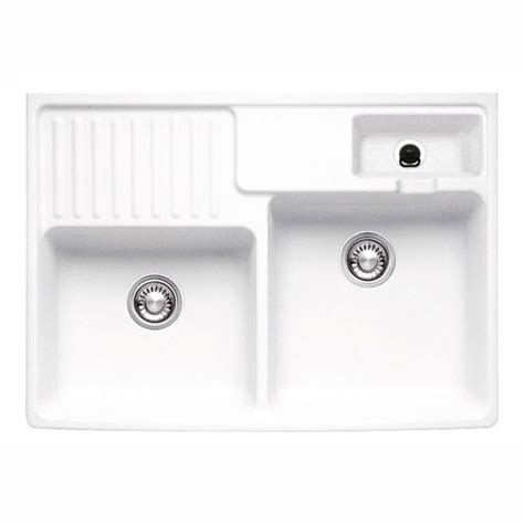 Ceramic Kitchen Sink With Drainer The Built In Draining Portion On Left Side Franke