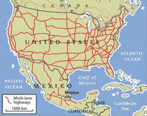 map of eastern us and mexico road sense the economist