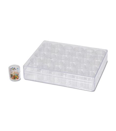 bead storage containers bead storage container w 30 small cylinder boxes jo