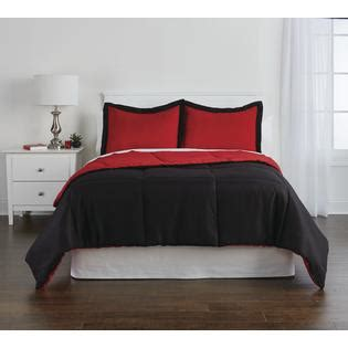 black and red reversible comforter colormate reversible comforter set black red