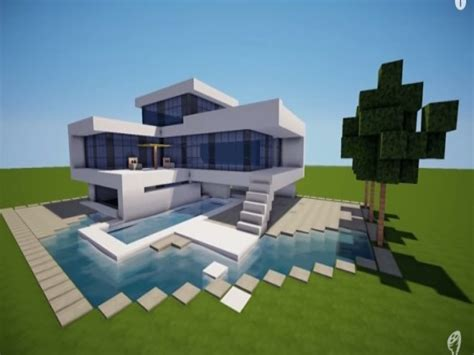 build a mansion small modern house minecraft modern house build a modern