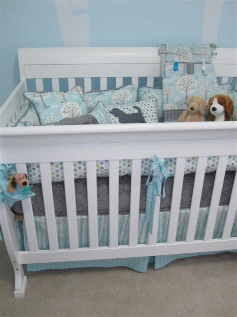 Grant S Puppies In The Park Nursery Project Nursery Puppy Crib Bedding